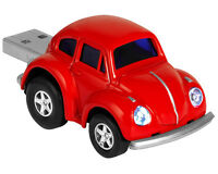 Official Classic VW Beetle USB Memory Stick Flash Pen Drive 4Gb - Red