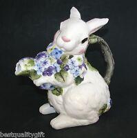 Ceramic White Bunny Rabbit+flower,floral Coffee,tea Pot,teapot-7 Cups-67009