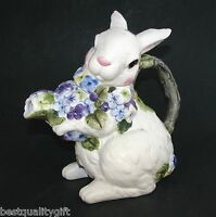 Ceramic White Bunny Rabbit+flower,floral Coffee,tea Pot,teapot-7 Cups-67009