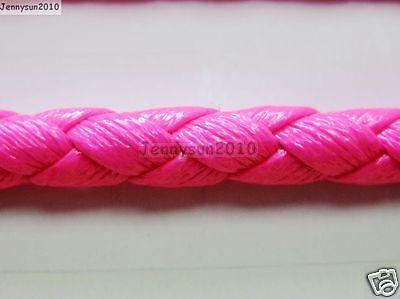 PU Leather Braid Round Rope Hemp Cord Thread For Diy Jewelry Bracelet Necklace