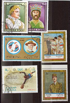 Briefmarken Asien Humor Fujairah Briefmarken Los Bc85