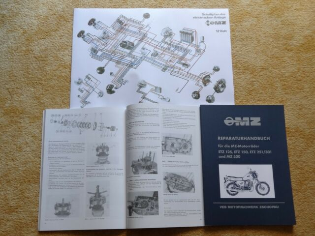 Reparaturhandbuch MZ ETZ 125 ETZ 150 ETZ 251 301 MZ 500 Reparaturanleitung NEU