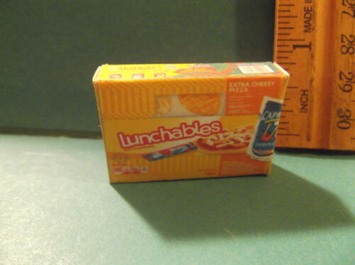 NOT Real Food Barbie Doll 1:6 Kitchen Food Miniature Box Lunchables
