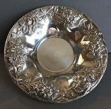 S Kirk and Son Sterling Silver 7 inch Bowl Repousse Stieff Rose 14 No Mono