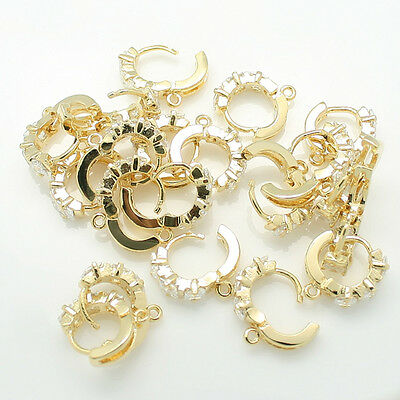 Earring Findings Rhinestone Glossy Earring Hook Jewelry making supplies EF-12