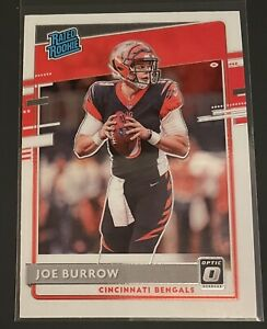 2020 Donruss Optic Joe Burrow RC Rated Rookie Base #151 Cincinnati Bengals🔥📈