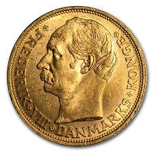 Denmark 20 Kroner Gold Coin - Random Year - Almost Uncirculated - SKU #14242
