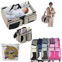 2 In 1 Crib Baby Portable Diaper Bassinet Nappy Bag Changing Fold Travel