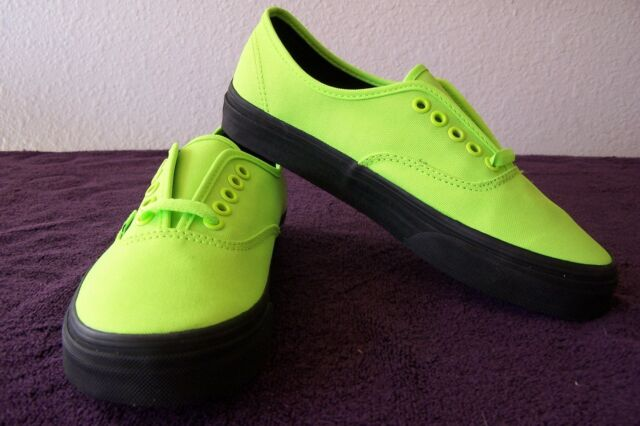 8736cb4f6efee1 VANS Authentic Black Outsole Neon Green Women s Shoes 8 for sale ...