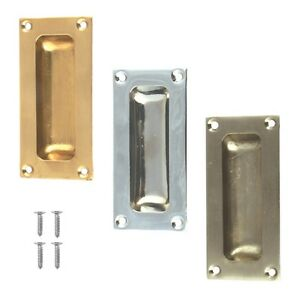 FLUSH PULL HANDLE Sliding Pocket Door Handles Inset Recessed Pulls ...