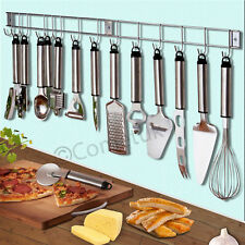 12 Pieces Stainless Steel Kitchen Utensils U0026 Gadget Set With Hanging Rack  Holder