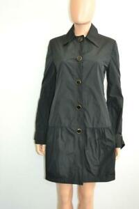 Hem Stella Black Rain Mccartney Nylon Coattrenchjacket Ruffled mnvN0wO8