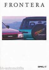 Opel Frontera Prospekt 4/94 brochure Autoprospekt Auto PKWs Geländewagen 1994