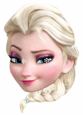Elsa from Frozen Officially Licensed Disney Single 2D Card Party Fun Face Mask