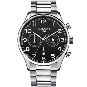 Luxus Herrenuhr Details Zu Chronograph Armbanduhr Business Armband Quarz Holuns Edelstahl 9EIWDH2Y