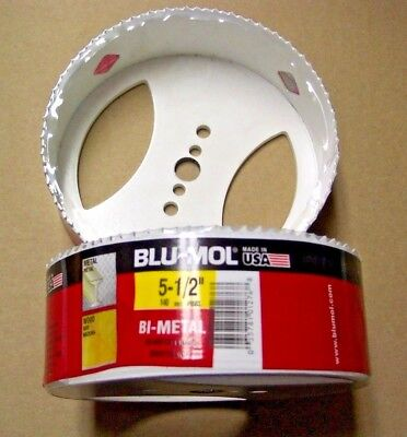 "1-3//4/"" Depth Blu-Mol 2-1//8/"" Hole Saw Bit With Arbor Bi-Metal #6521"