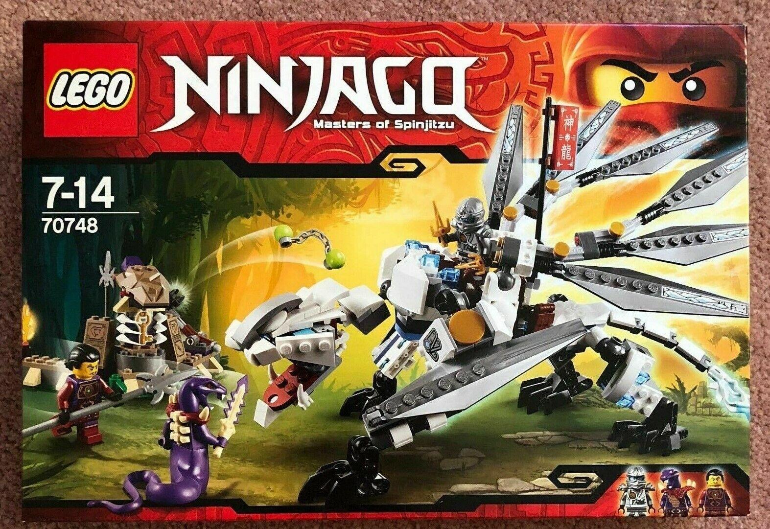 Lego Ninjago 70748 Titanium Dragon 100% Complete with instructions, NO minifigs.