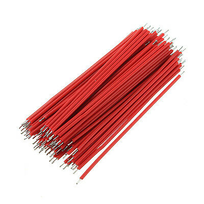100pcs Motherboard Breadboard Jumper Cable Wires Experiment Test Tinned 6cm Red
