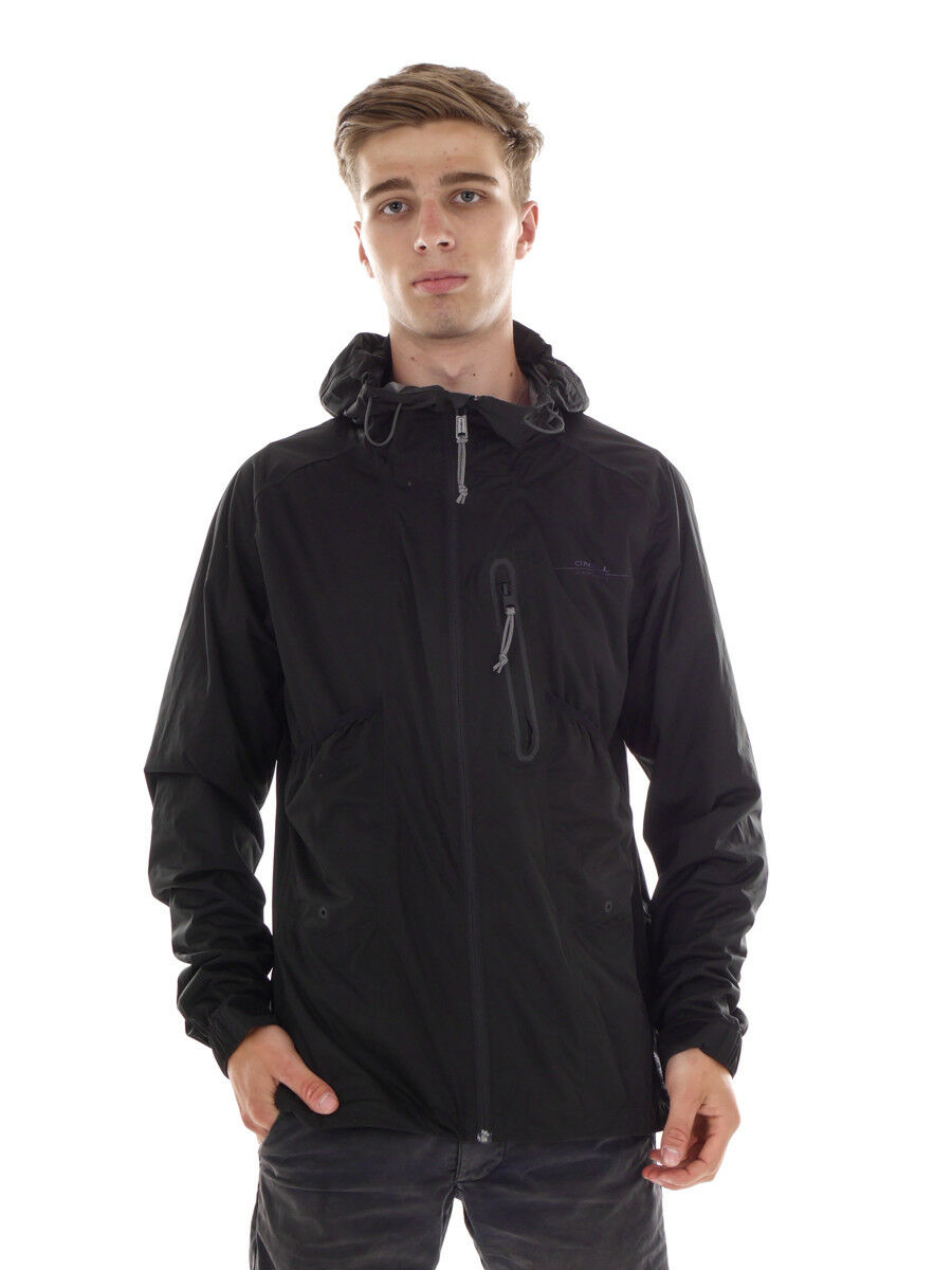 O 'Neill Windbreaker función chaqueta jones split negro hyperdry capucha