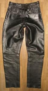 fette-034-LOUIS-034-Damen-LEDERJEANS-Biker-Lederhose-in-schwarz-ca-Gr-38