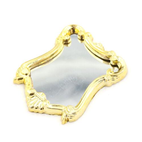 1:12 marco europeo de Muebles Casa De Muñecas Mini Espejo Modelo Vintage 、 Pop