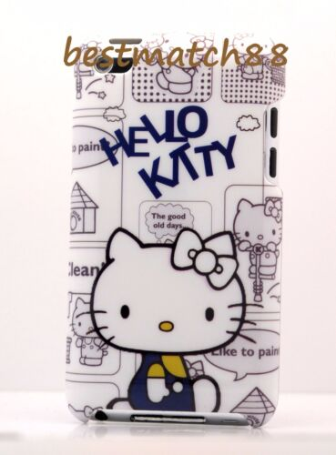 for ipod touch 4TH 4 TH 4 GEN itouch back case hello kitty kitten red pink white