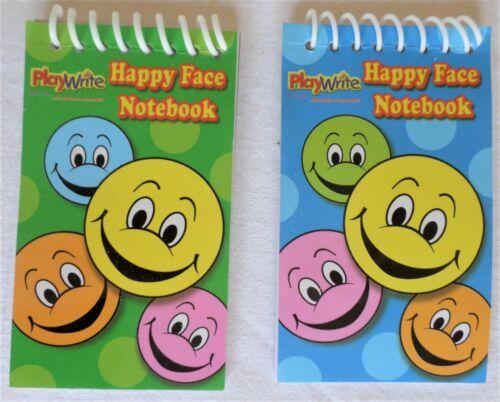 Mini Happy Face Spiro bound Note book Pad Party Bag Pocket Money Travel 10cm