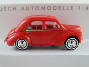Busch-46523-Renault-4cv-1958-en-rouge-1-87-h0-Nouveau-Neuf-dans-sa-boite