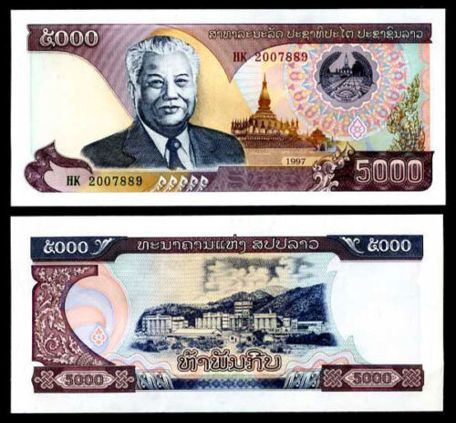 LAOS LAO 5000 5,000 KIP 1997 P 34 UNC