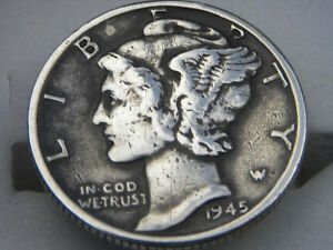 Vintage authentic Mercury dime coins handmade pin brooch with in gift box various available dates