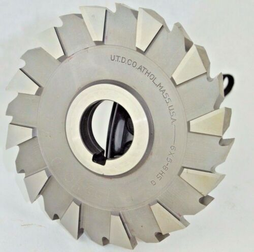 """UTD CO 6/"""" X 5//8/"""" X 1-1//4/"""" HSS STAGGERED TOOTH SIDE MILLING CUTTER USA"""