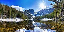 DREAM LAKE COLORADO ROCKY MOUNTAIN LANDSCAPE POSTER PRINT 36x72 BIG