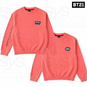 BTS BT21 Official Authentic Goods Warpen Pink Sweat Shirts + Tracking Number