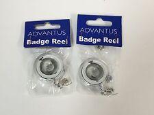 2 Advantus Translucent Retractable Id Card Reel With Belt Clip 30 Extension