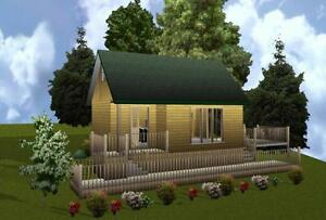 16x24 Cabin w Loft Plans Package Blueprints Material List   eBay