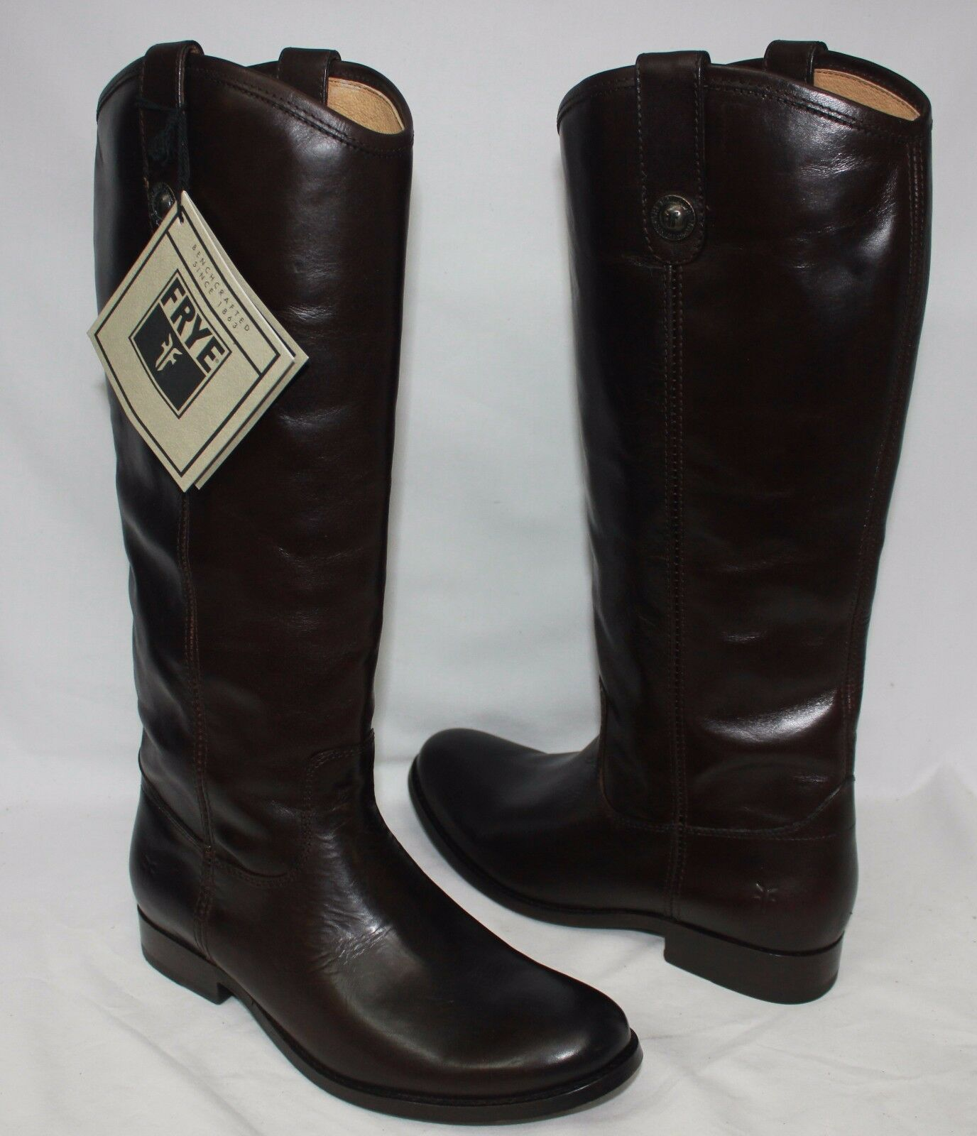 Frye Women's Melissa Button Dark Brown Boots Style 77167 New With Box!