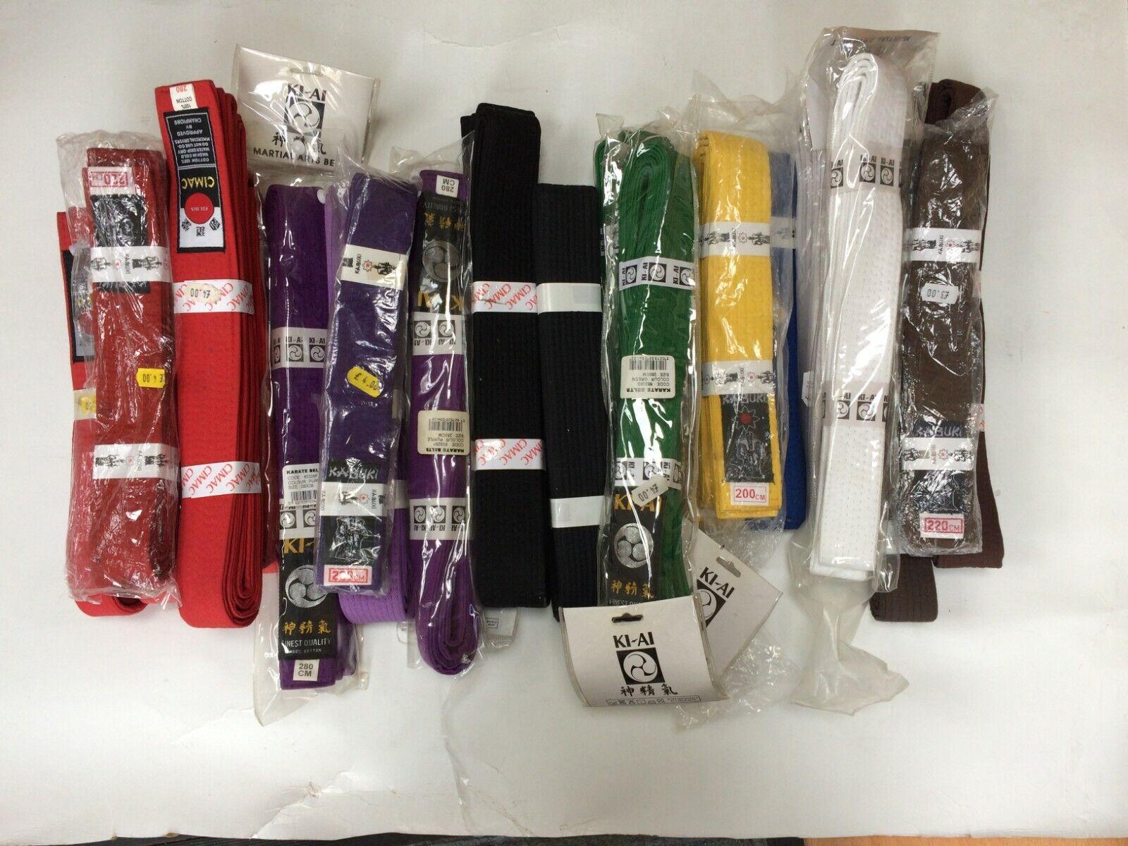 Karate Belt Martial Arts. Job Lot  200cm 220cm 240cm 280cm Various colours