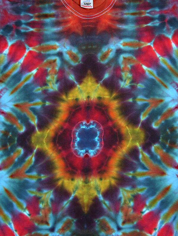 T-Shirt Gr.S - 5XL kurzarm handgefärbt Hippie Hippie Hippie Tie dye Batik Flower Power Goa NEU | Billiger als der Preis  | Zu verkaufen  82337e