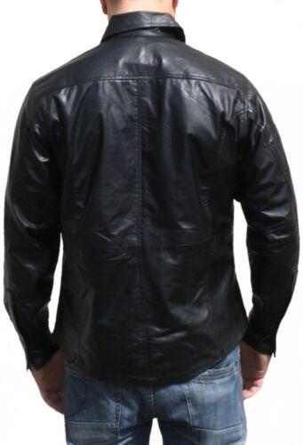 en moto Lammnappa cuir chemise en cuir shirt Chopper v de chemise Germanwear fa1wSnzqW