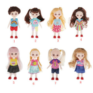 Set of 2 BJD Doll Maiden Doll Toys with Clothes Shoes Wig Hair Makeup,Best Gift