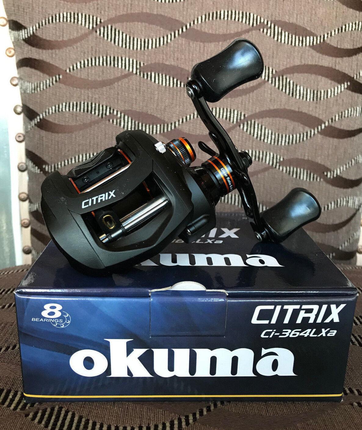 OKUMA CITRIX ci364lxa Sinistro Mano Baitcaster multi ruolo