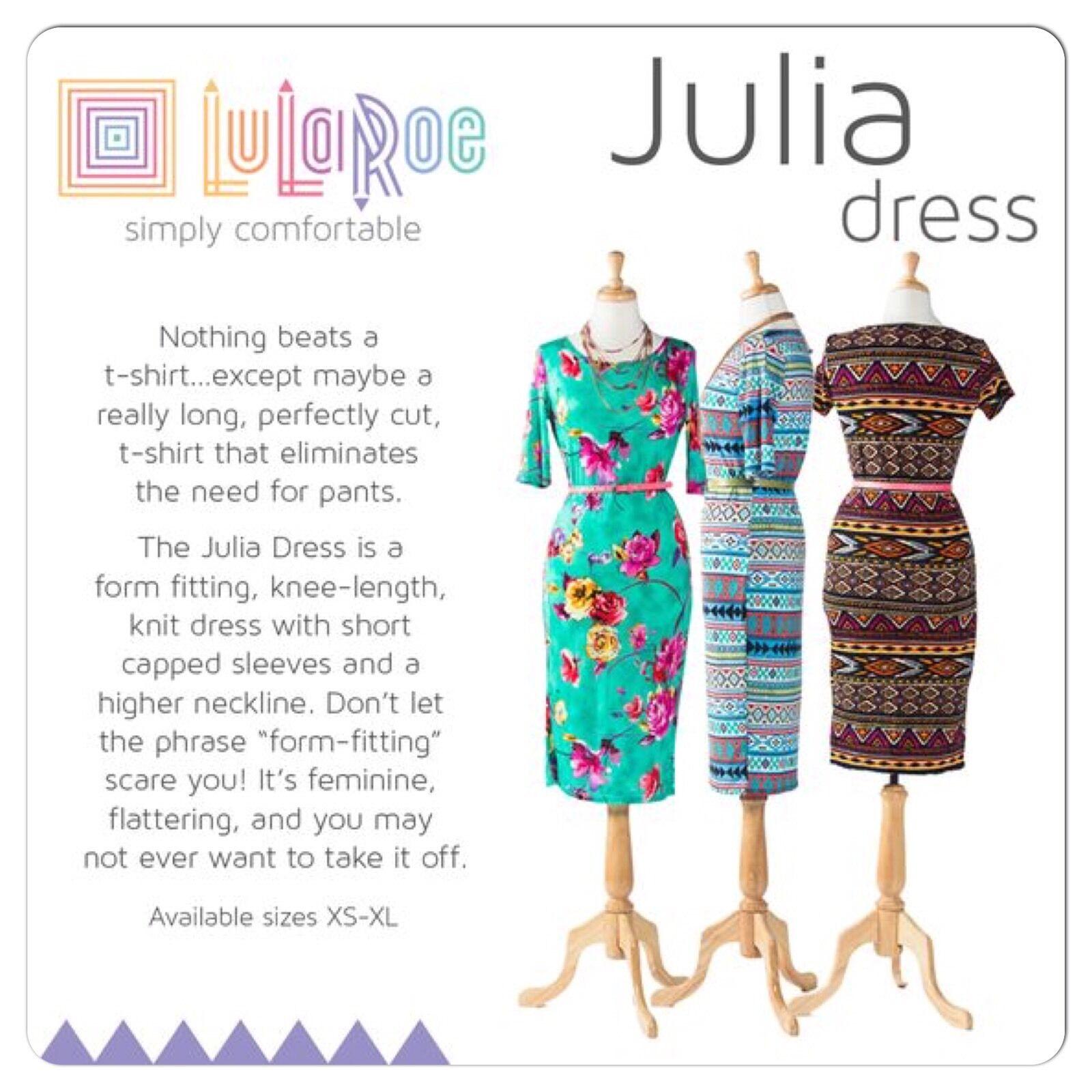 LuLaRoe unicorn Julia Dress x-small XS - image 7