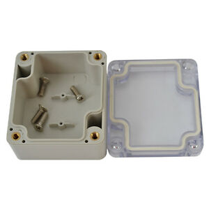 Waterproof-Clear-Electronic-Project-Box-Enclosure-Plastic-Cover-Case-63-58-35mm