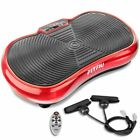FITFIU Fitness 400W Plataforma Vibratoria Oscilante con Cuerdas - Roja