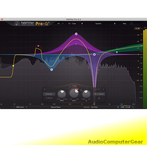 FabFilter PRO-Q 3 Equalizer Fab Filter EQ 2 Audio Software Plug in-in NEUE Version 3