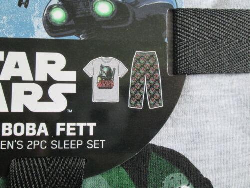 Star Wars Boba Fett Pajama Pants Lounge PJ 2 piece Set Mens sz S M or L NWT