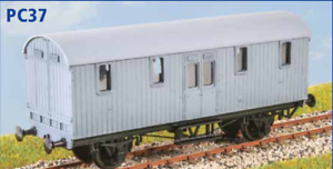 GWR-Python-Covered-Carriage-Truck-OO-gauge-Parkside-PC37-free-post