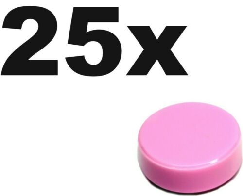 TILES Pink Bright x 25 NEW LEGO 1 x 1 smooth flat 1x1 Round