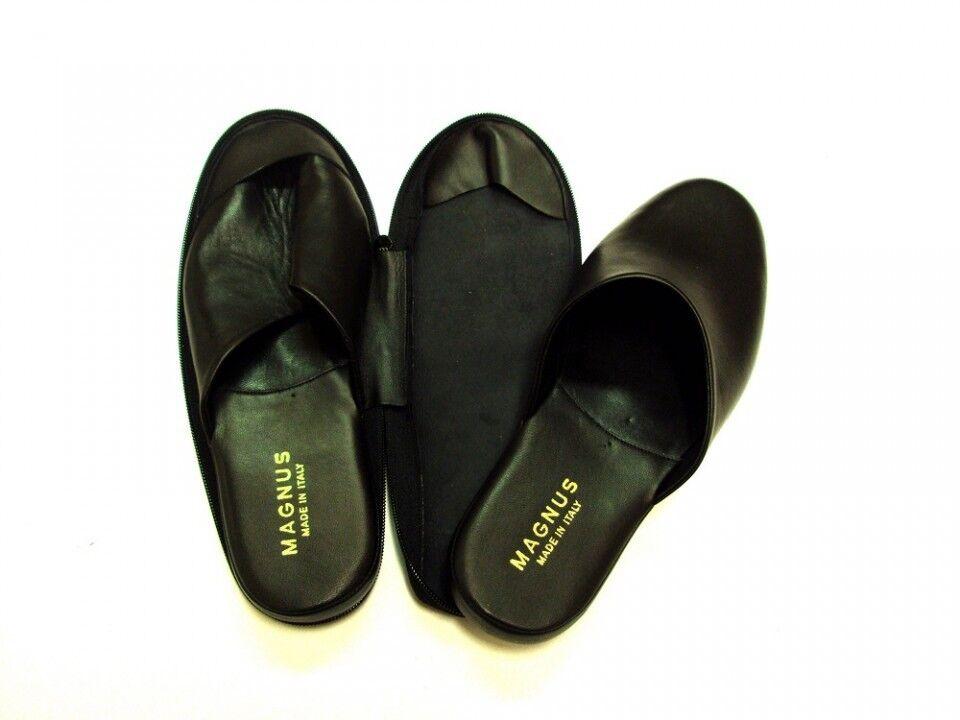 Pantofole da uomo ESCLUSIVE PELLE PANTOFOLE UOMO IN PELLE ESCLUSIVE DA VIAGGIO MAGNUS ARTIGIANALI MADE IN ITALY 9fd129