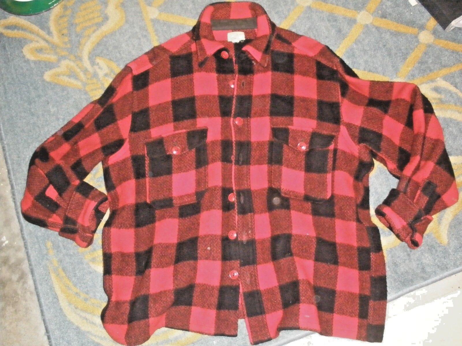 Vintage  ropa deportiva Pantalones Para Town & Country Negro y Rojo a Cuadros de Lana Caza Chaqueta Grande  punto de venta en línea